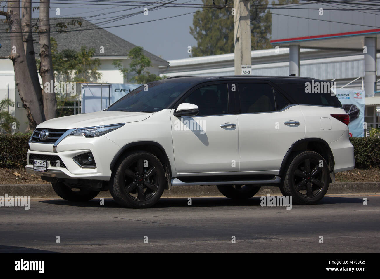 Chiang Mai Thailand February 8 2018 Private Toyota Fortuner Suv