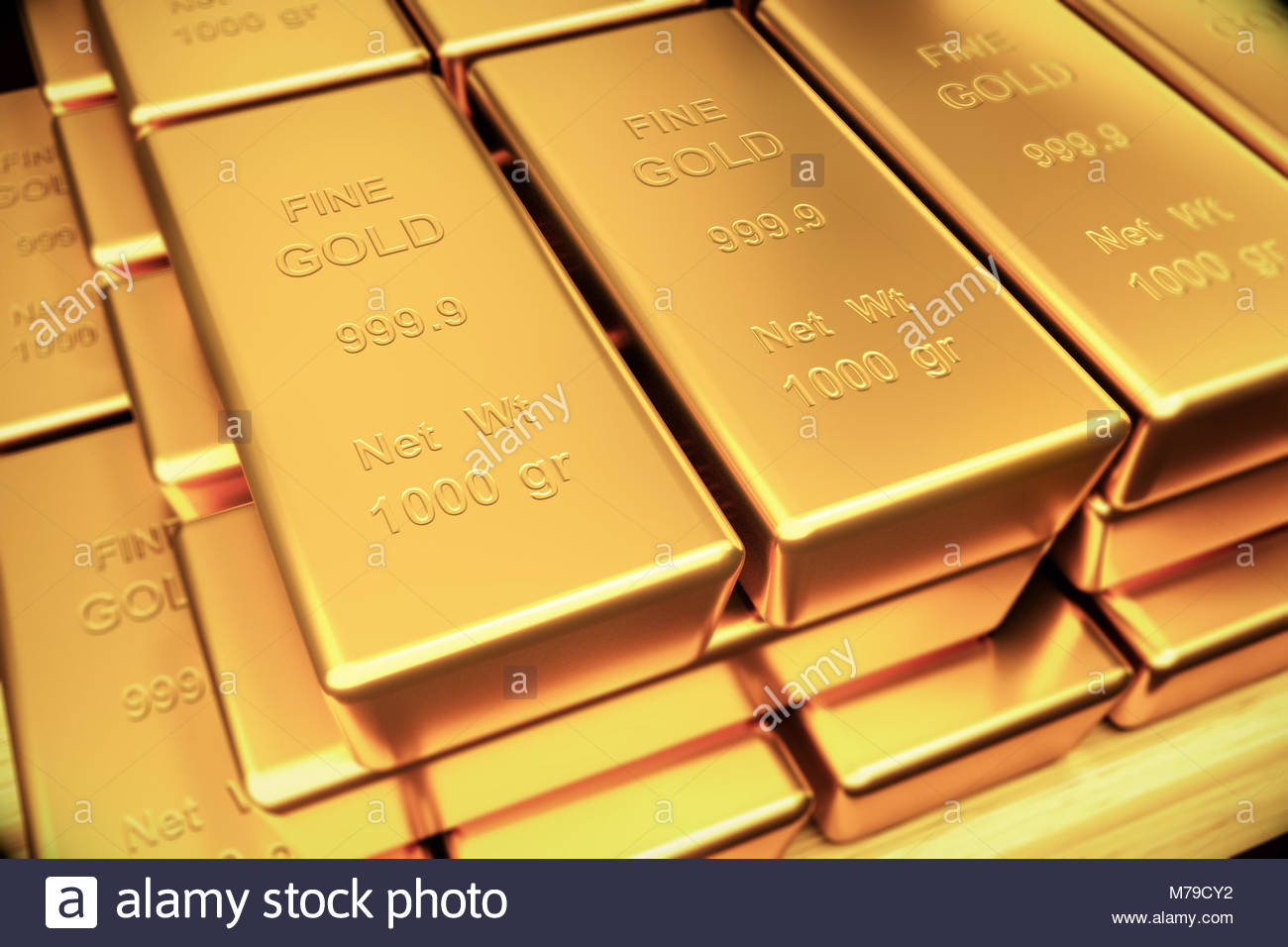 Gold Bullion A Yellow Precious Metal The Chemical Element Of Atomic
