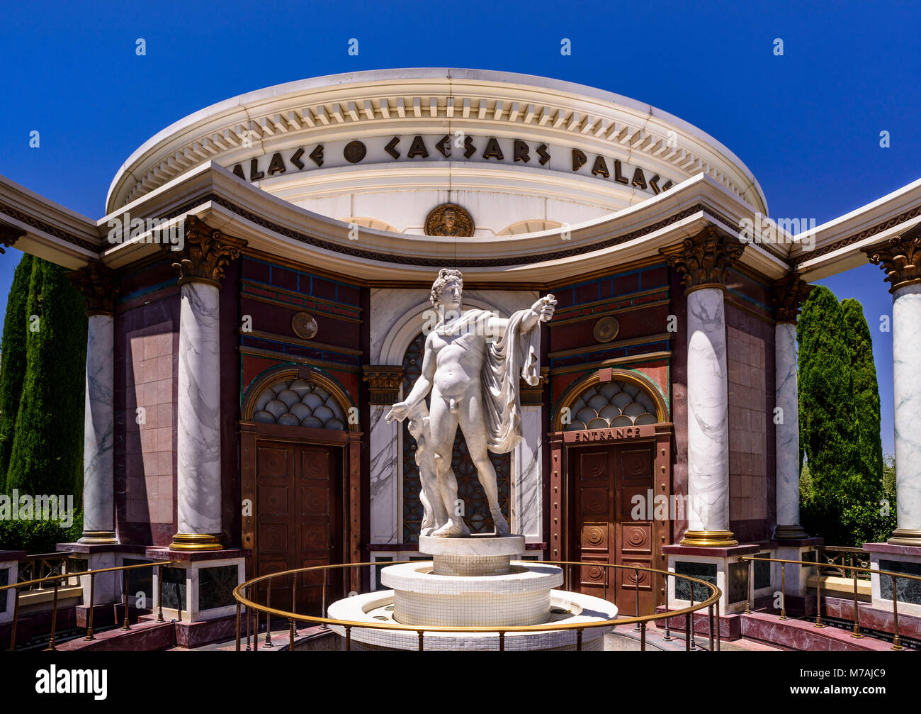 Casino caesar palace stock photos casino caesar palace for Garden statues las vegas nv
