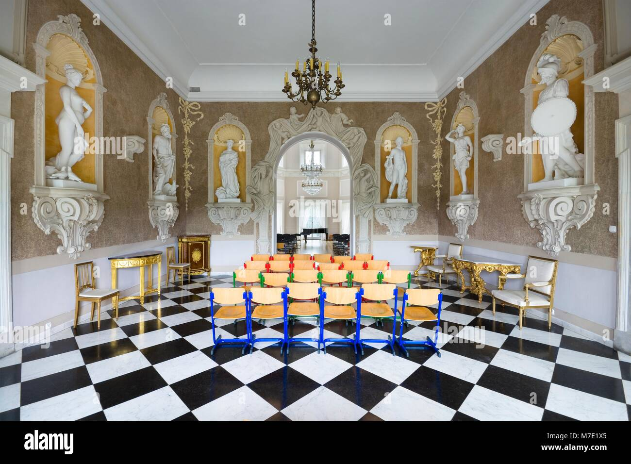 Otwock wielki poland august 17 2017 interior of baroque style otwock wielki poland august 17 2017 interior of baroque style bielinski palace in otwock wielki near warsaw vestibule and ballroom nowadays dailygadgetfo Image collections
