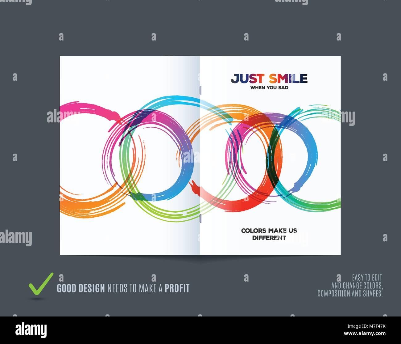 abstract design of business vector brochure template cover poster