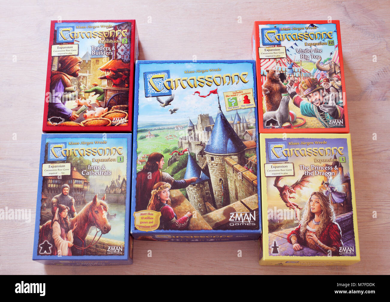The Popular Modern Board Game Carcassonne Stock Photo 176746127 Alamy