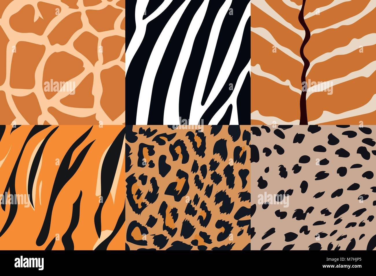 Cheetah Vector Pattern