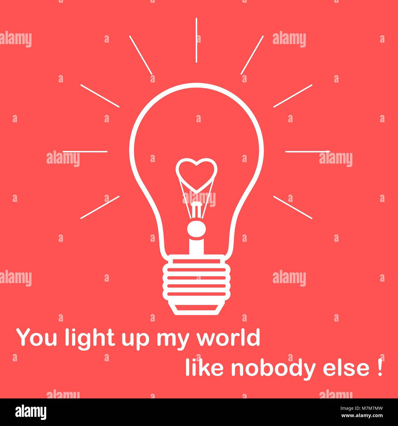 Glowing light bulb with glower in the shape of a heart and the stock glowing light bulb with glower in the shape of a heart and the inscription design for banner poster or print greeting card valentines day m4hsunfo