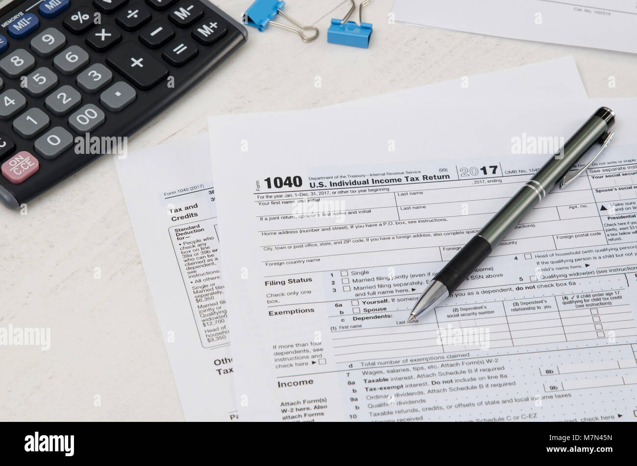1040 tax form stock photos 1040 tax form stock images alamy us tax form 1040 with pen and calculator tax form law document usa business concept falaconquin