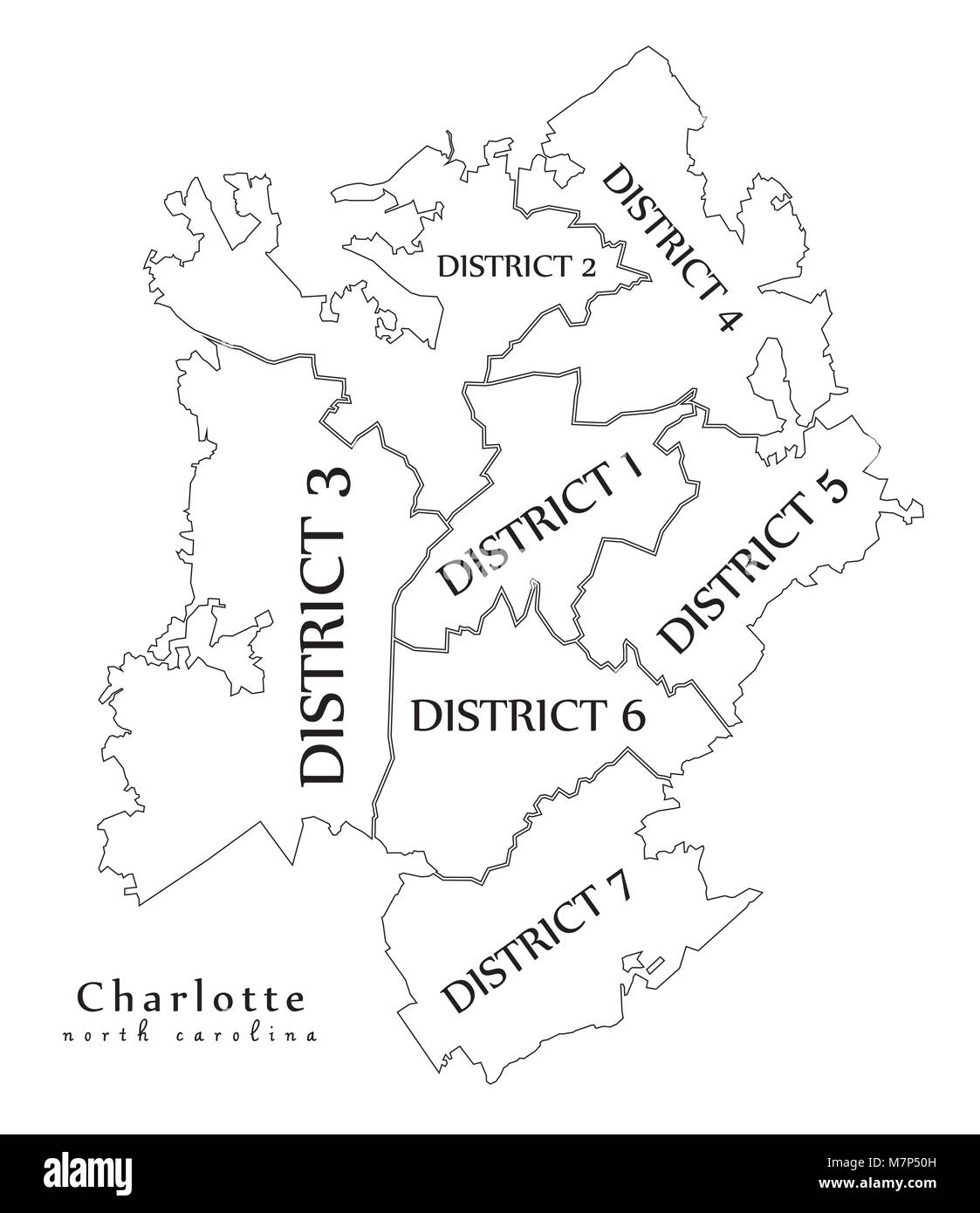 Charlotte Nc Map Usa.Modern City Map Charlotte North Carolina City Of The Usa With