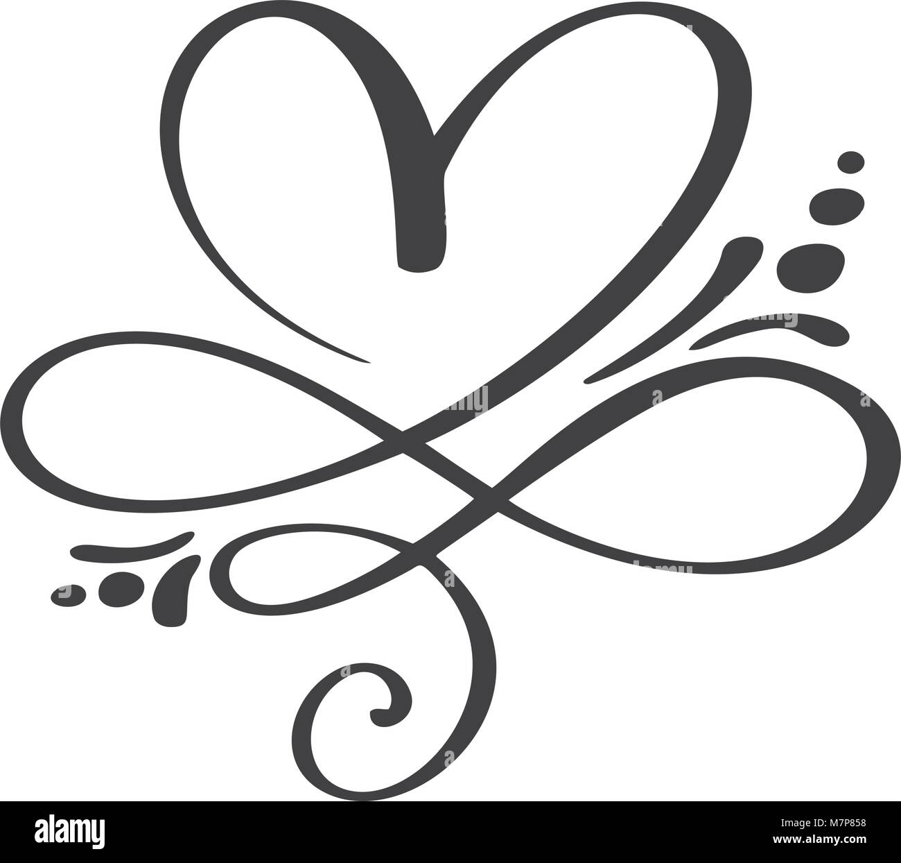 Heart Love Sign Forever Infinity Romantic Symbol Linked Join Stock