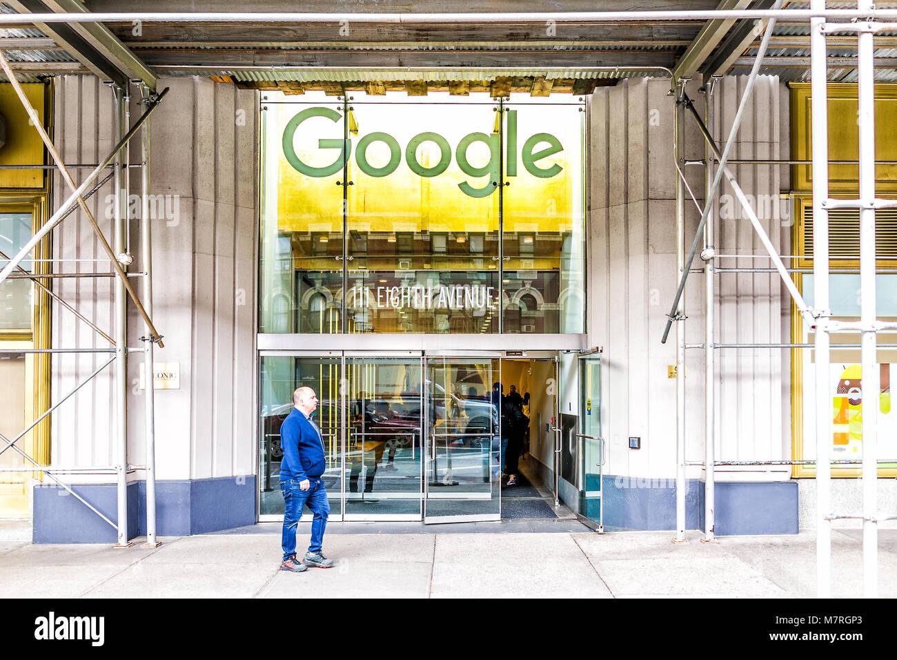google company head office. Google Company Office. New York City, Usa - October 30, 2017: Head Office