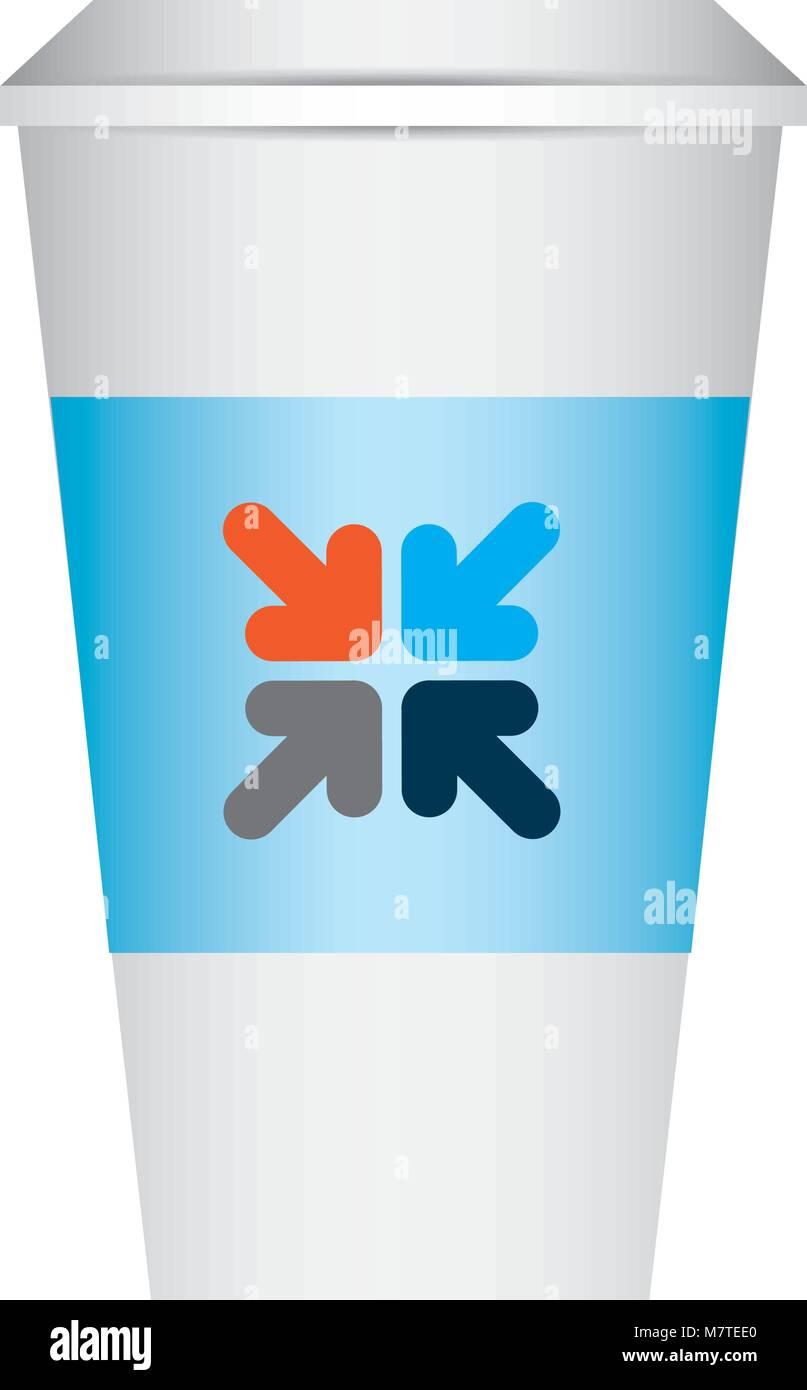 coffee paper cup template corporate identity design stock vector art