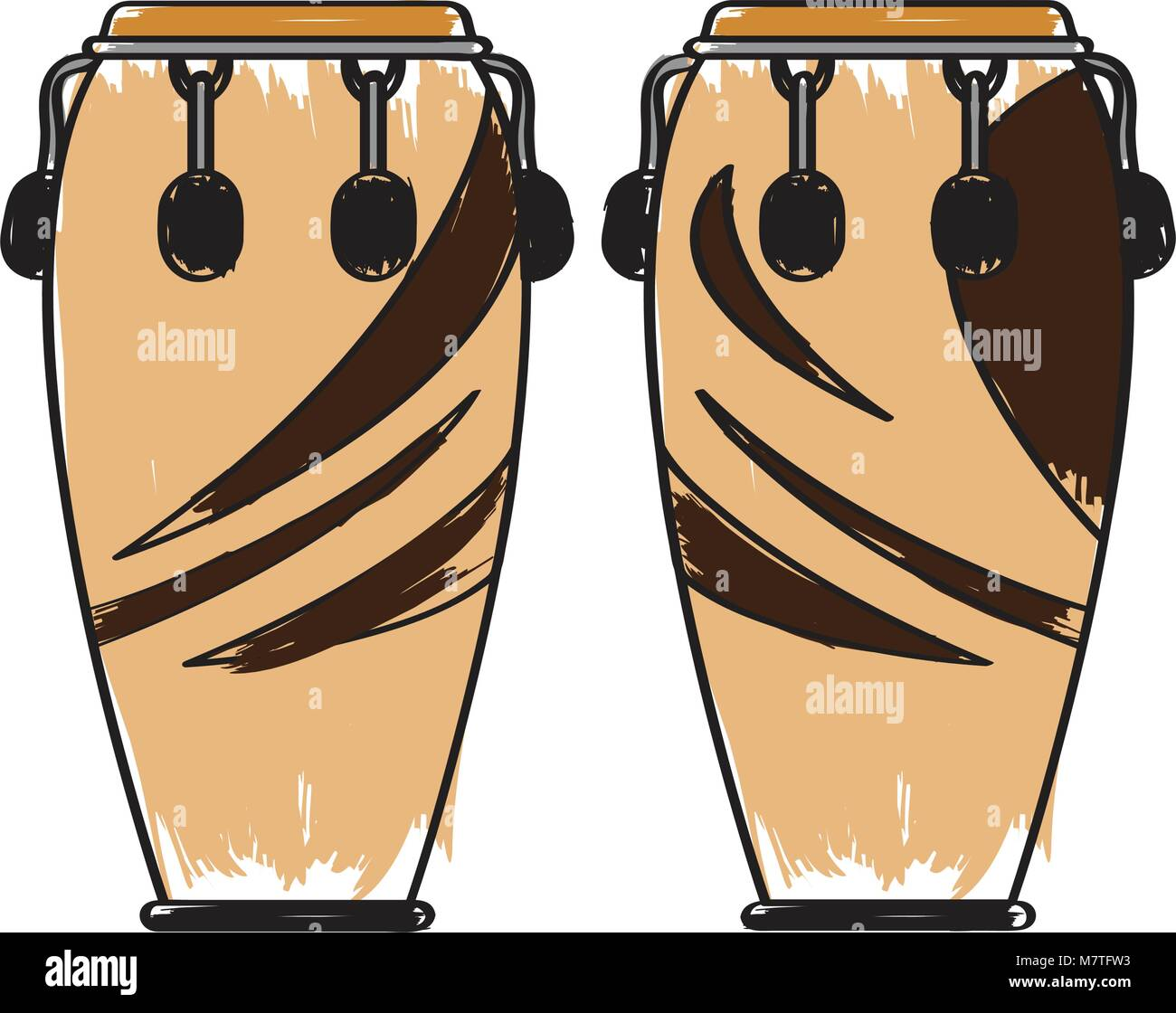 Pair Of Conga Drums Musical Instrument