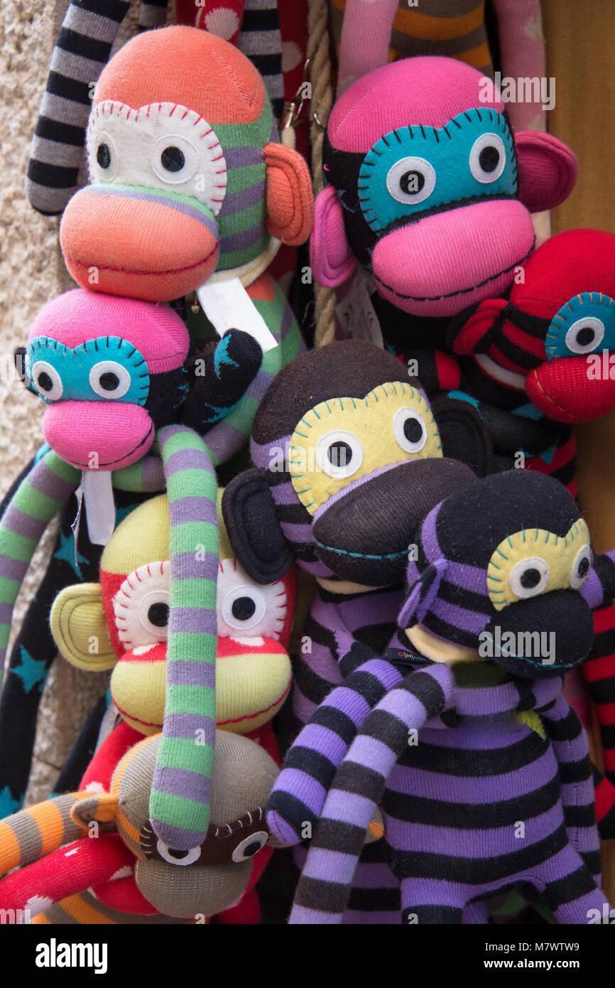 Funny Colorful Monkeys On Sale Stock Photo 176974597 Alamy