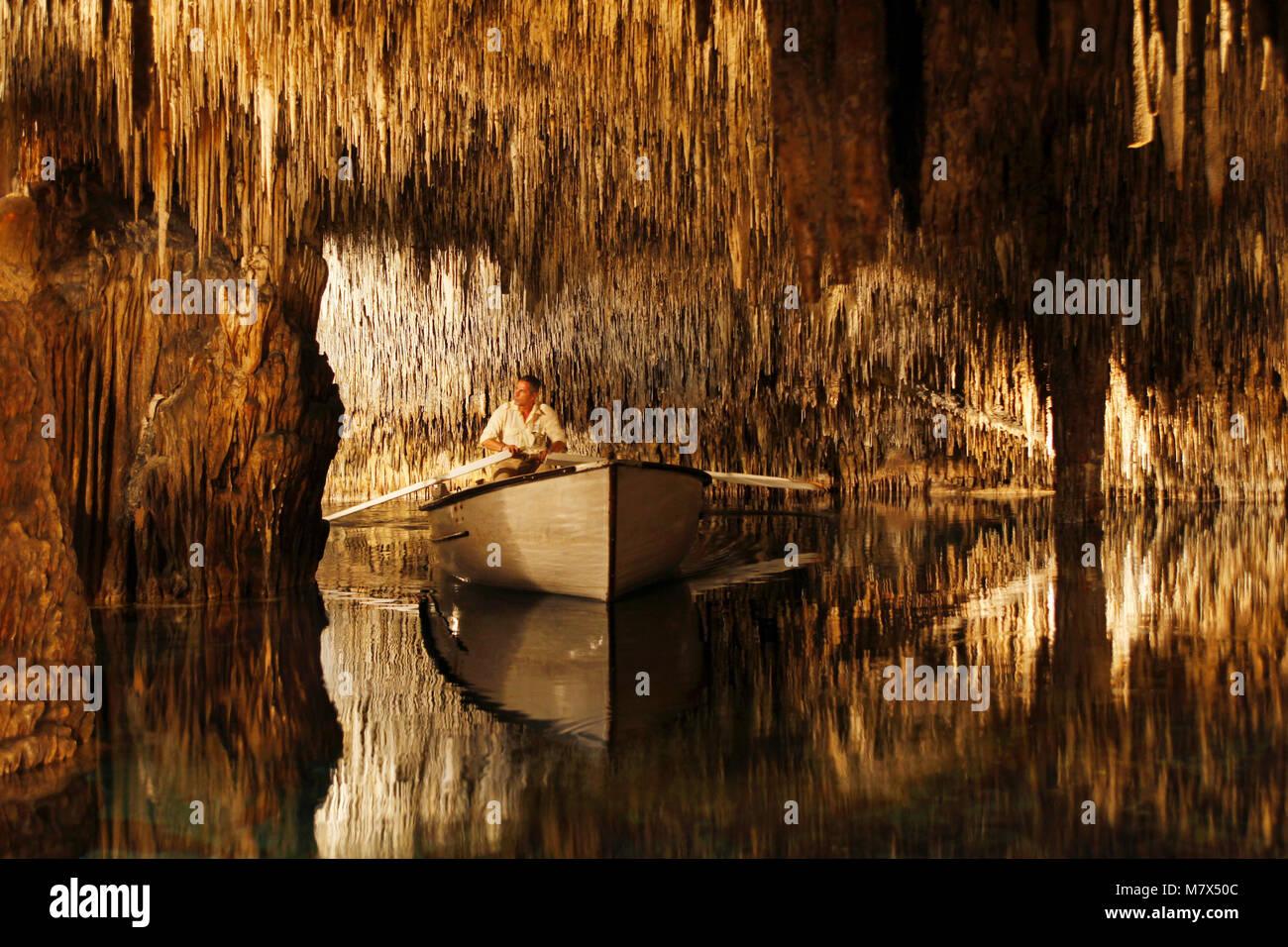 Dripstone Cave Cuevas Del Drach Caves Of Porto Cristo Mallorca Majorca Balearic Islands Spain