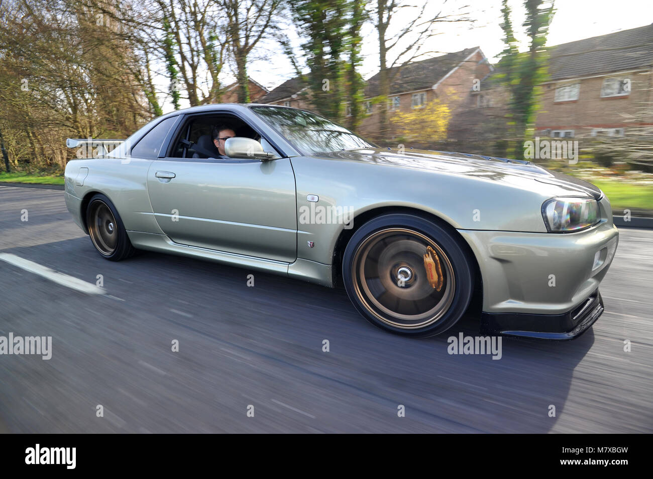 Nissan Skyline R34 Skyline Modified Japanese Super Car   Stock Image
