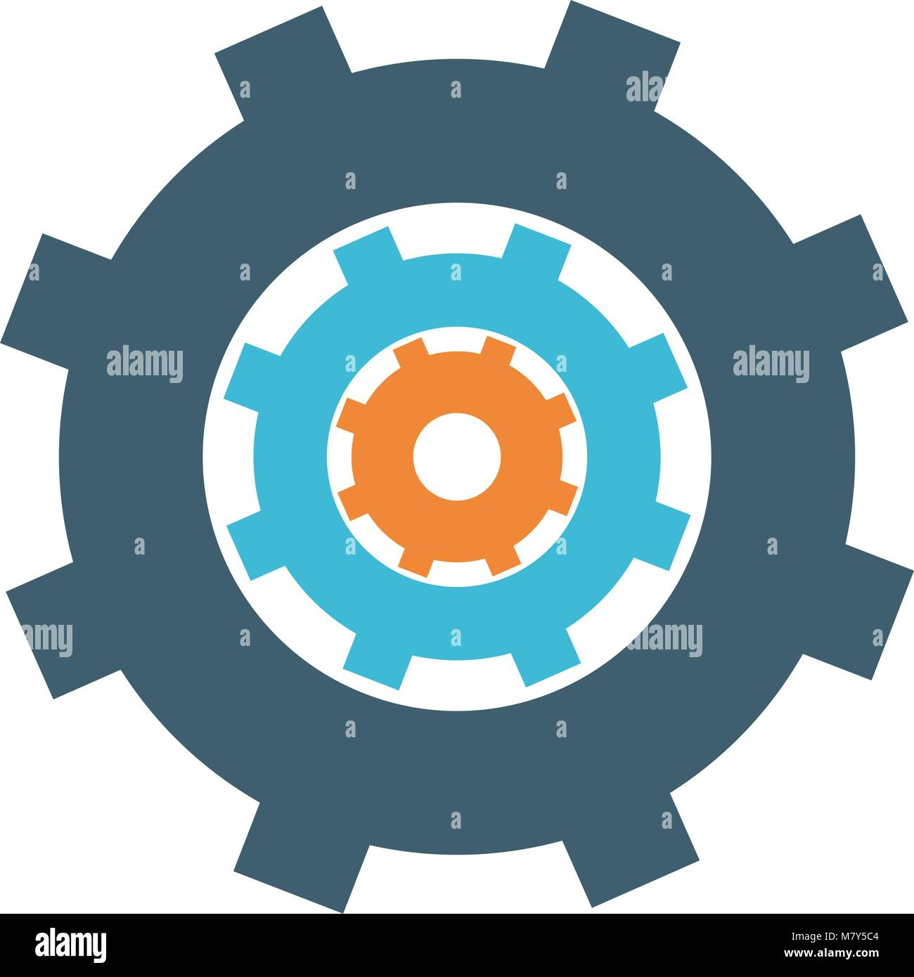 Gear machinery symbol vector illustration graphic design Stock ...