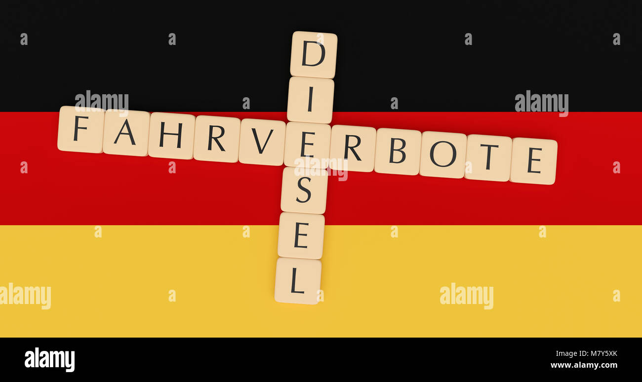 Germany Politics News Concept Letter Tiles Diesel And Fahrverbote