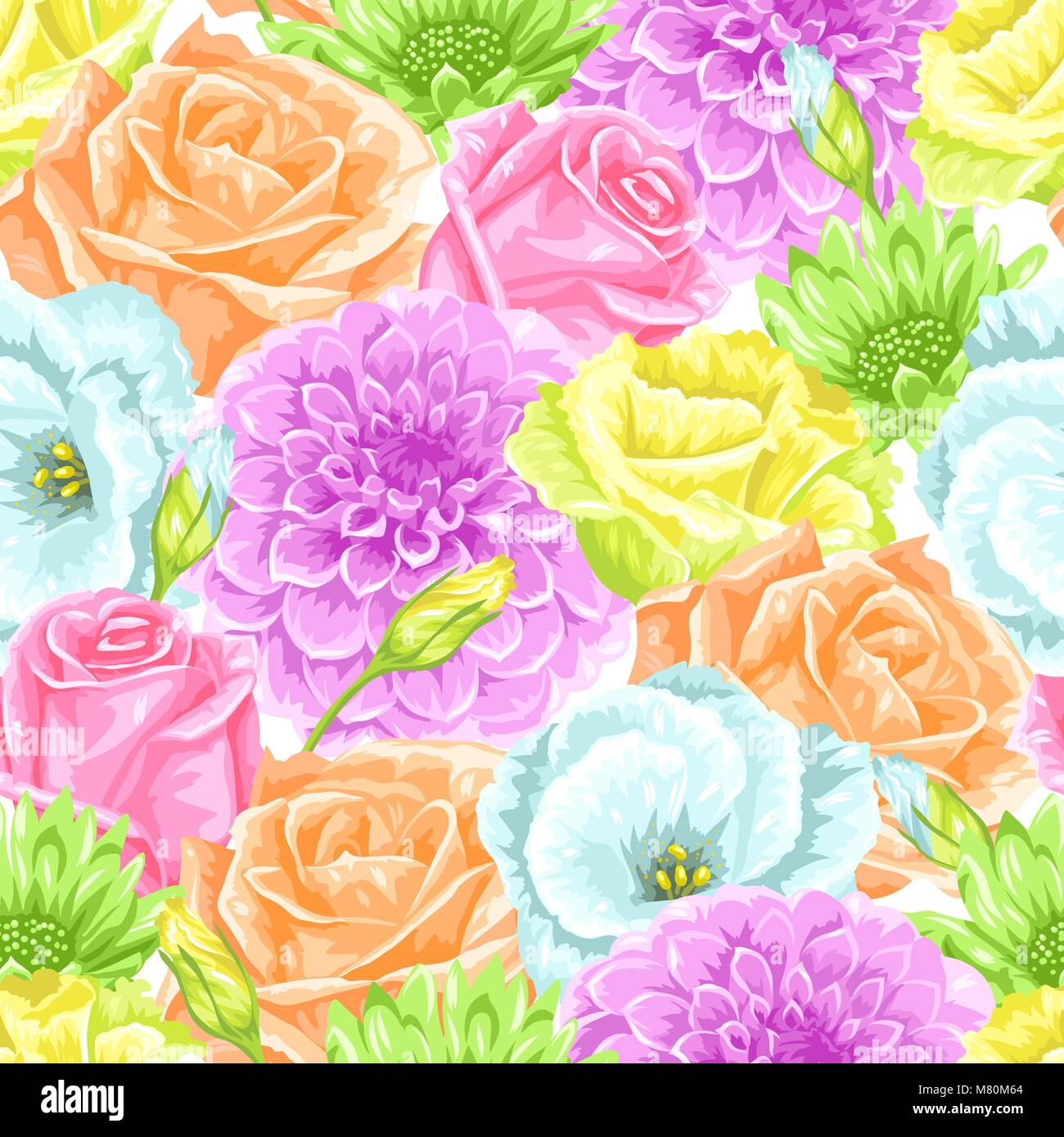 Seamless pattern with decorative delicate flowers easy to use for seamless pattern with decorative delicate flowers easy to use for backdrop textile wrapping paper wallpaper mightylinksfo