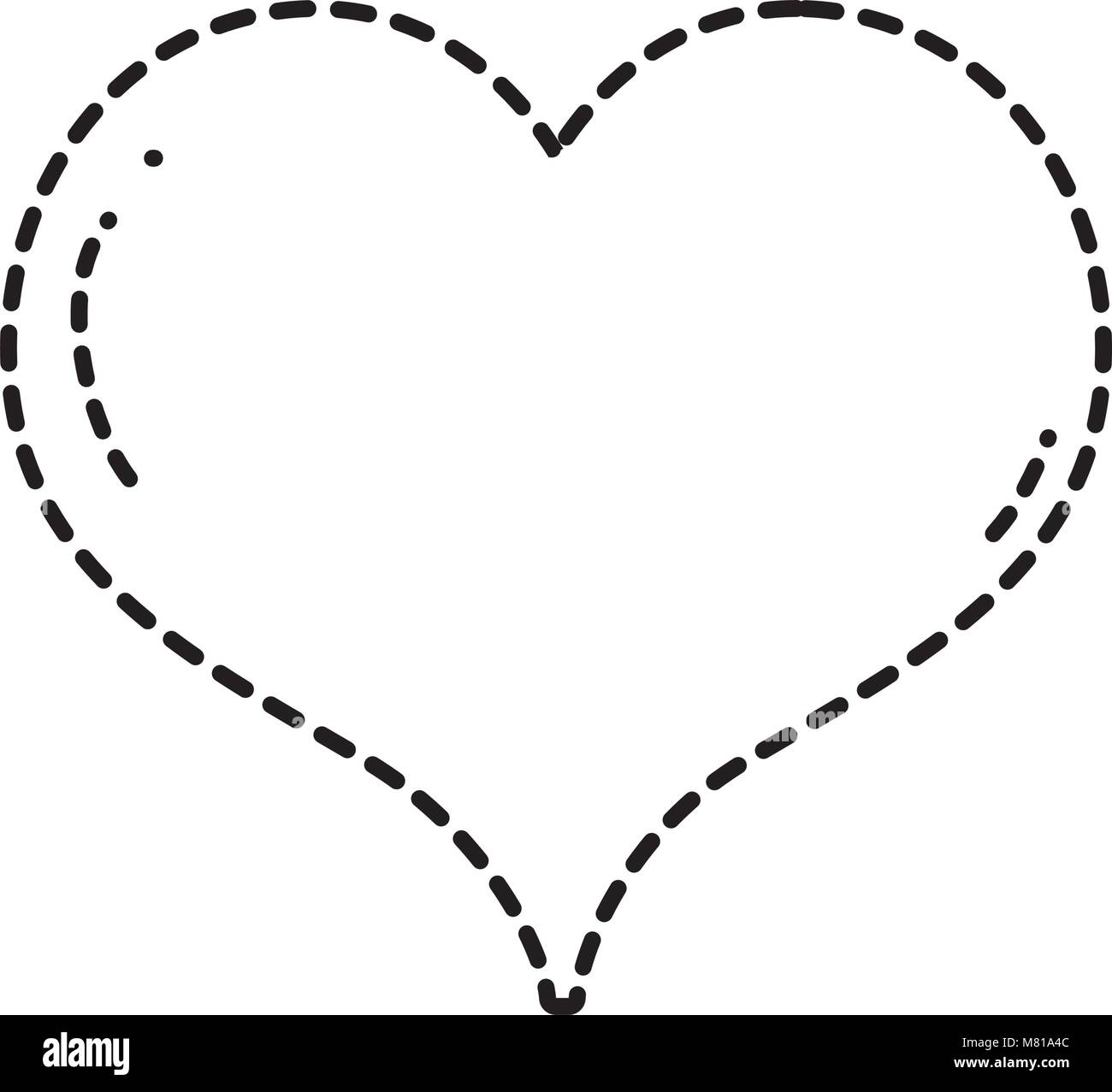Dotted Shape Heart Love Symbol Of Passion Art Stock Vector Art