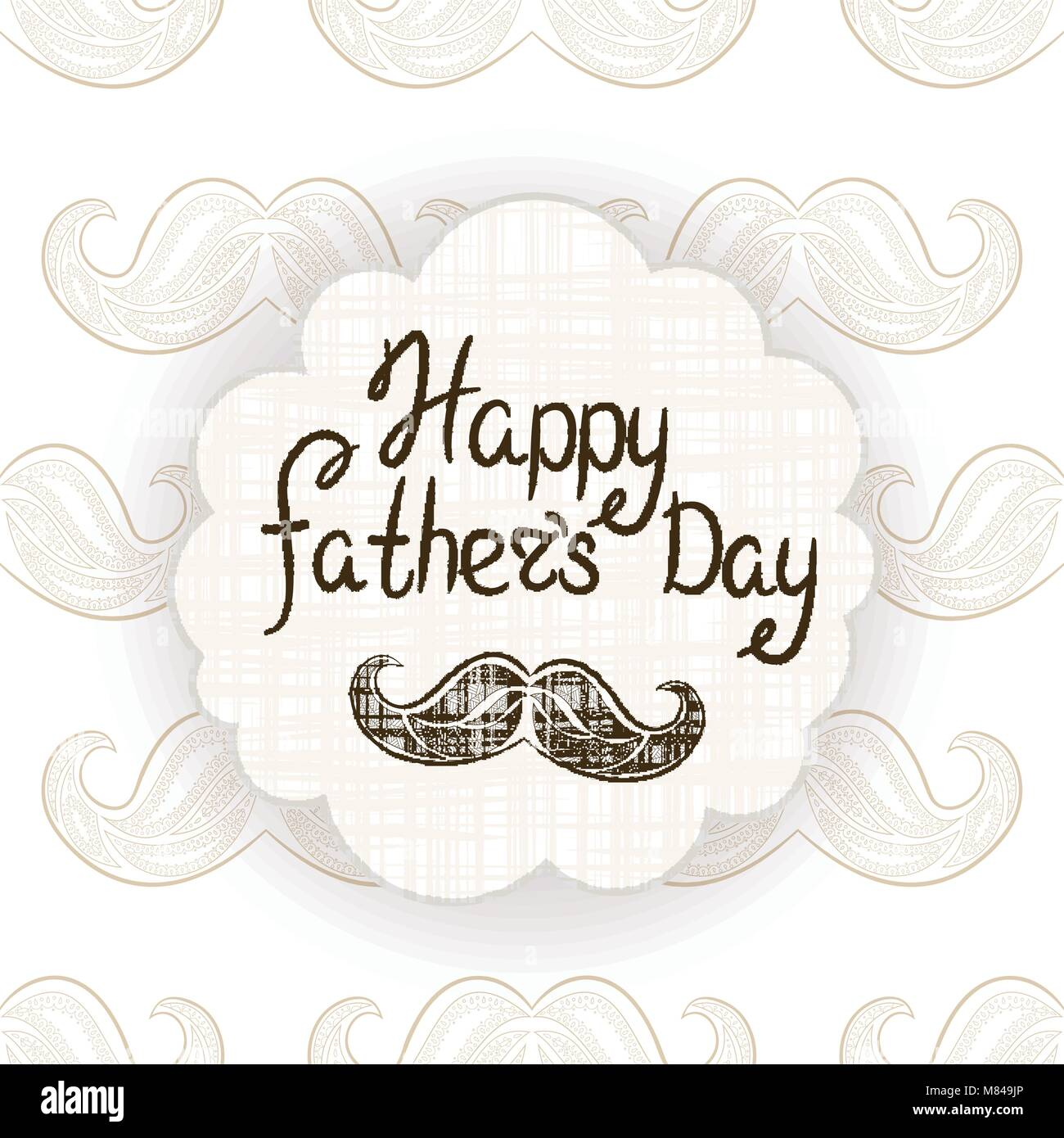 Greeting card for fathers day vector postcard with zen tangle greeting card for fathers day vector postcard with zen tangle mustache typography greetings for dad m4hsunfo