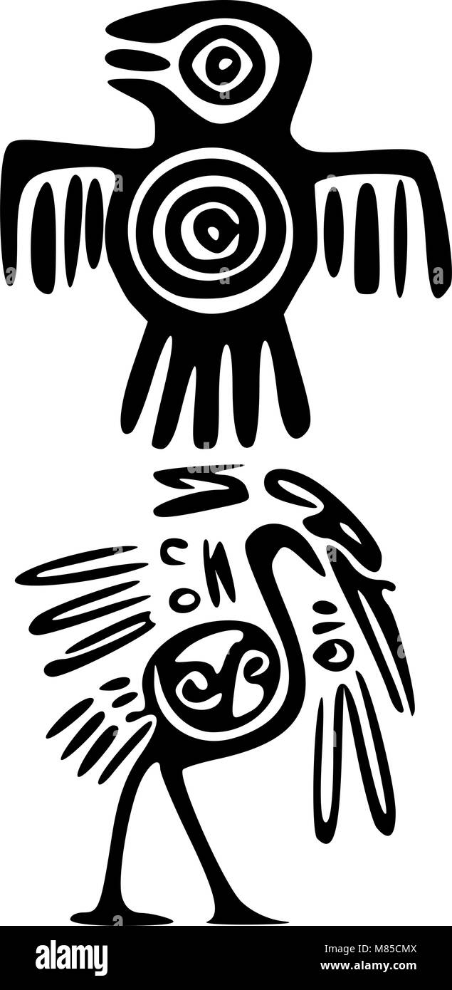Mayan culture black and white stock photos images alamy mayan and inca tattoo symbols stock image biocorpaavc