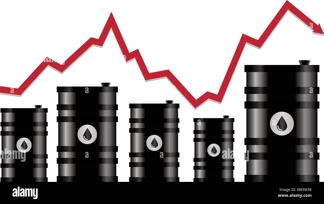 Crude oil stock vector images alamy vector crude oil price financial chart red arrow shows oil prices up and down trade biocorpaavc Gallery