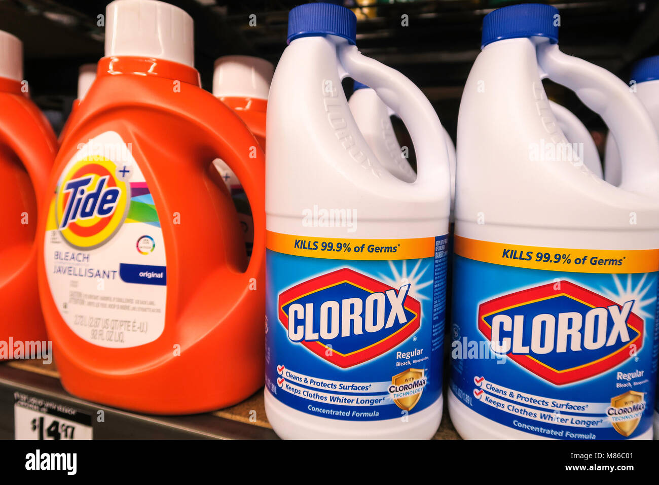 Bleach label stock photos bleach label stock images alamy home depot cleaning products store display nyc stock image biocorpaavc