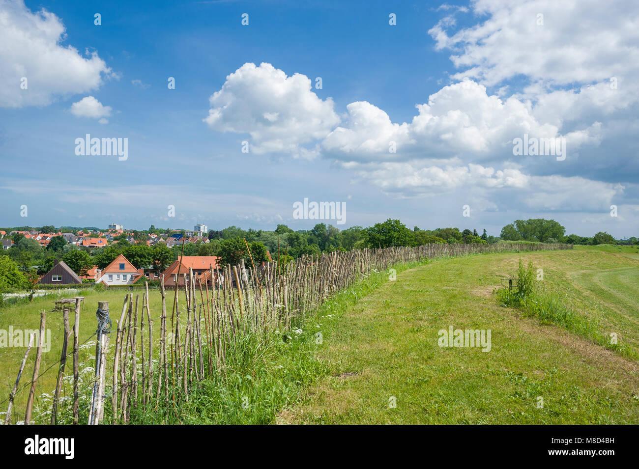 historical slavic ringwall oldenburg in holstein baltic sea stock