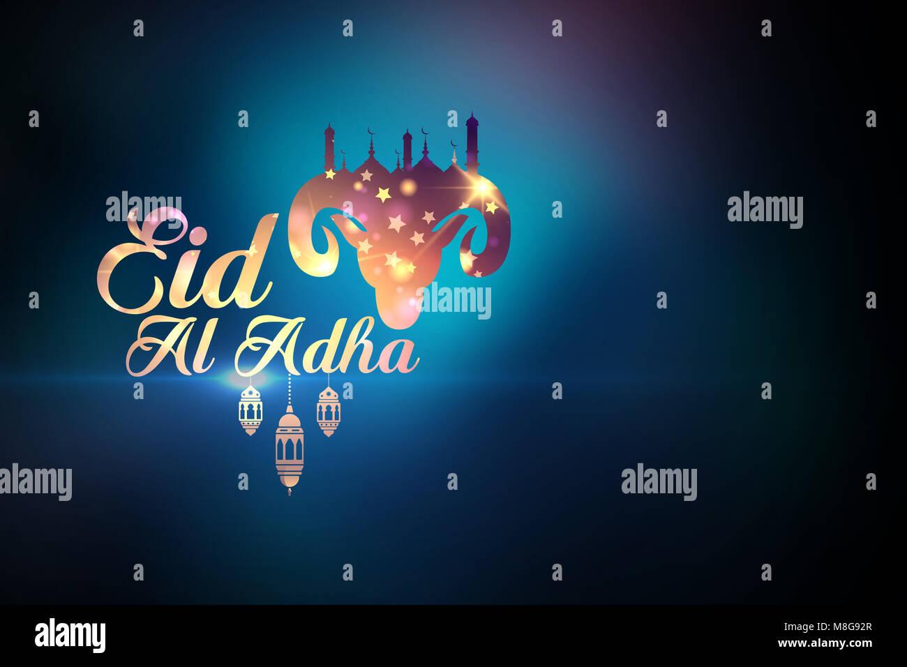 Eid al adha greetings stock photo 177379295 alamy eid al adha greetings kristyandbryce Choice Image