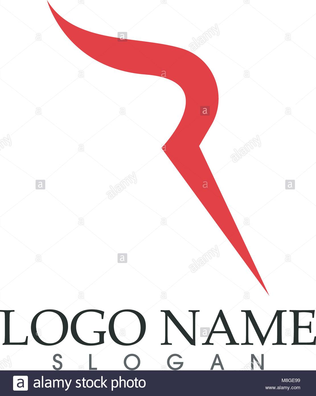 r letter logo business template vector icon stock vector art