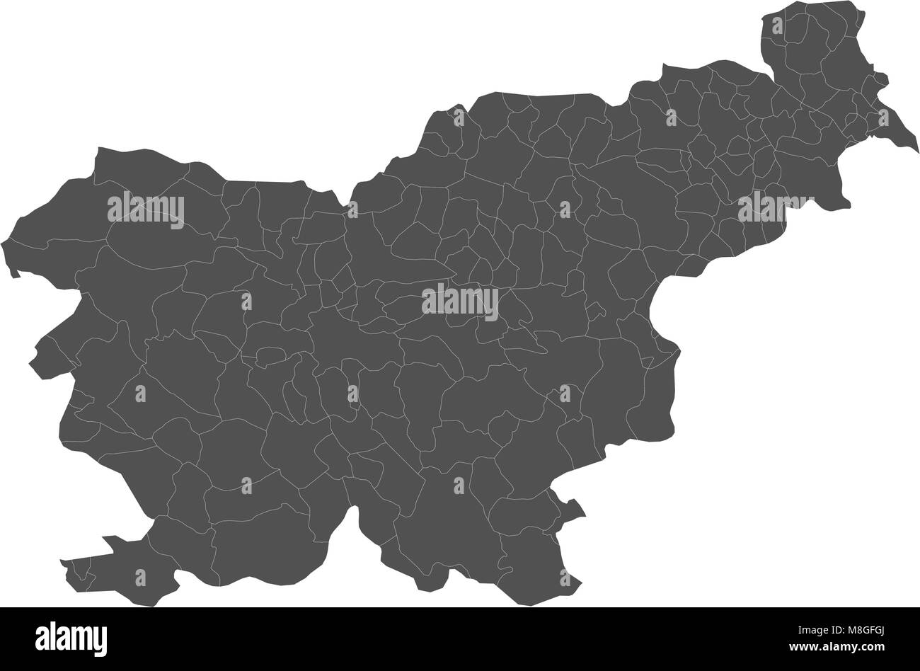 Vectors map cut out stock images pictures page 8 alamy map of slovenia split into regions stock image publicscrutiny Choice Image