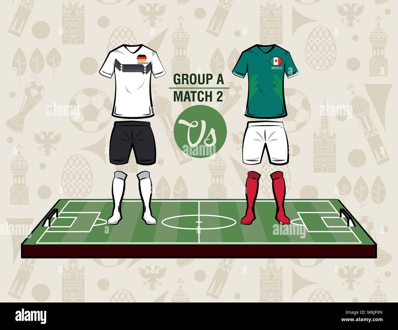Football sport wear russia 2018 vector illustration graphic design ... 95c038e0f