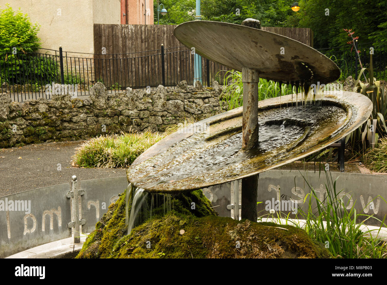 Artistic fountain at Matlock Bath park, Derbyshire Stock Photo ...