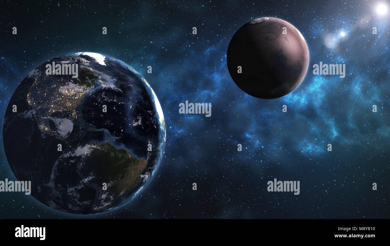 C8alamy Comp M8Y810 Deep Space Beauty Planets