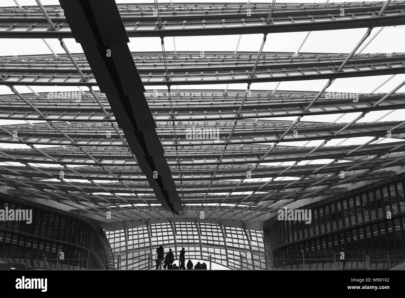shopping in les halles shoping centre in paris france stock photo