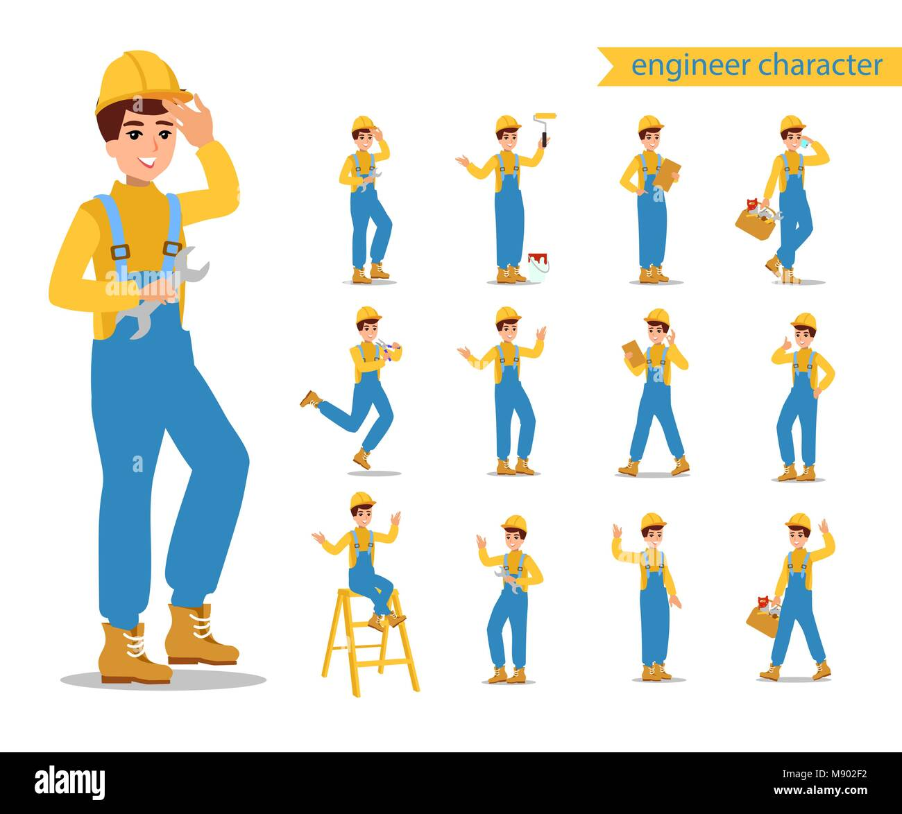 female worker character vector design animate personage fun