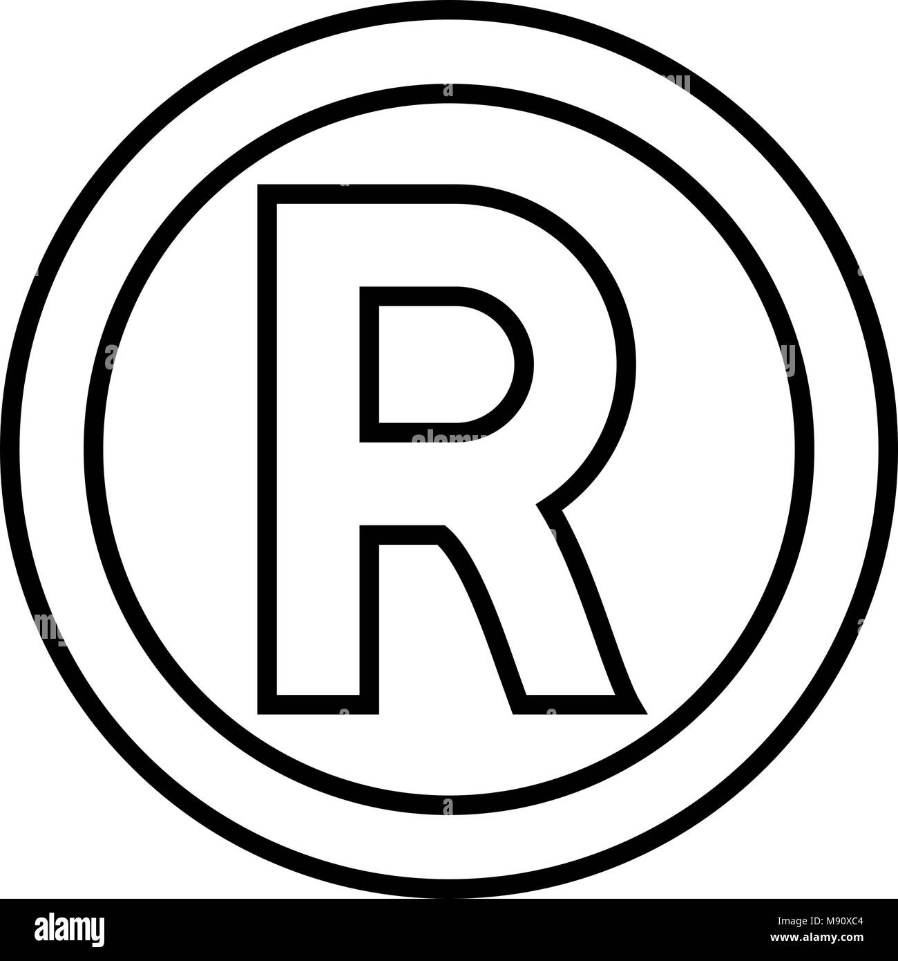 Registered trademark symbol black and white stock photos images symbol copyright icon black color vector illustration flat style simple image stock image biocorpaavc Choice Image