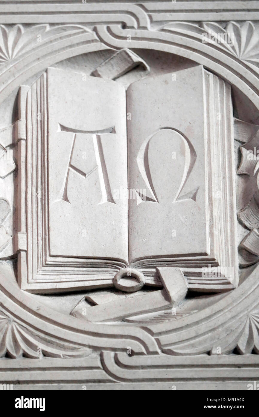 The Temple Neuf Protestant Church The Greek Letters Alpha And Omega