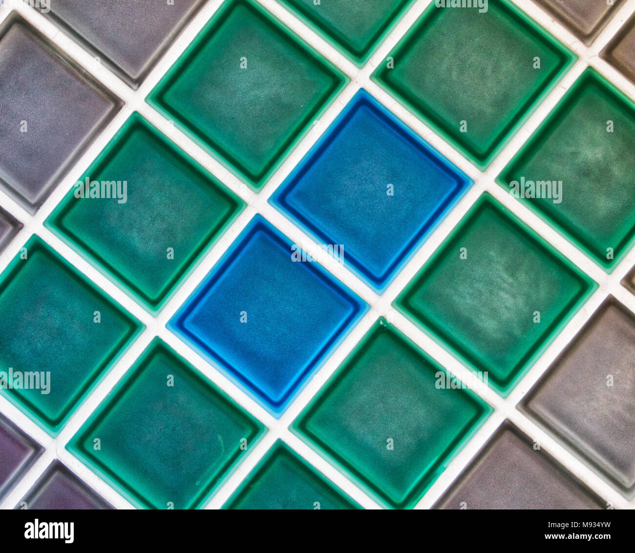 Madrid, Spain - March 21 2018: Colorful Ceramic Mosaic Tiles (Grey ...