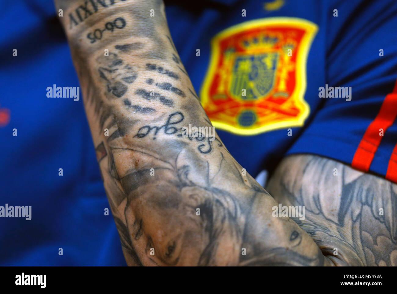 sergio ramos tattoos