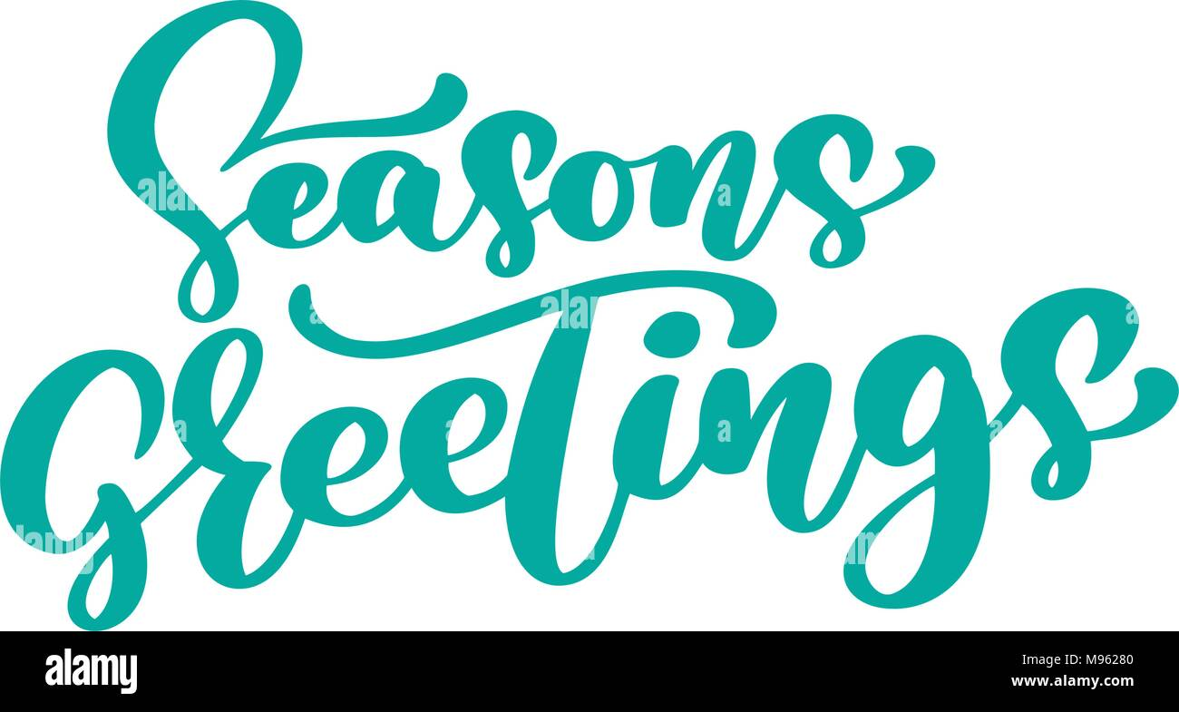 Seasons greetings text calligraphy vector illustration hand drawn seasons greetings text calligraphy vector illustration hand drawn elegant modern brush lettering of isolated on white background m4hsunfo