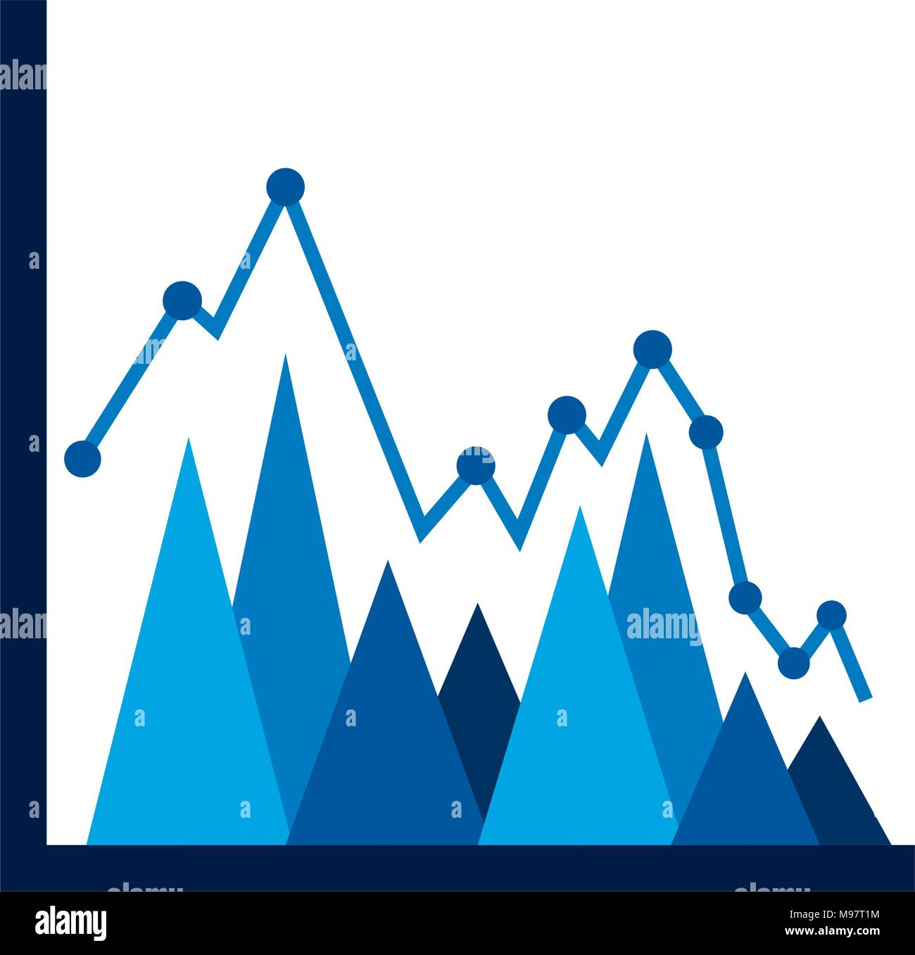 statistics triangle graph line point business plan report stock