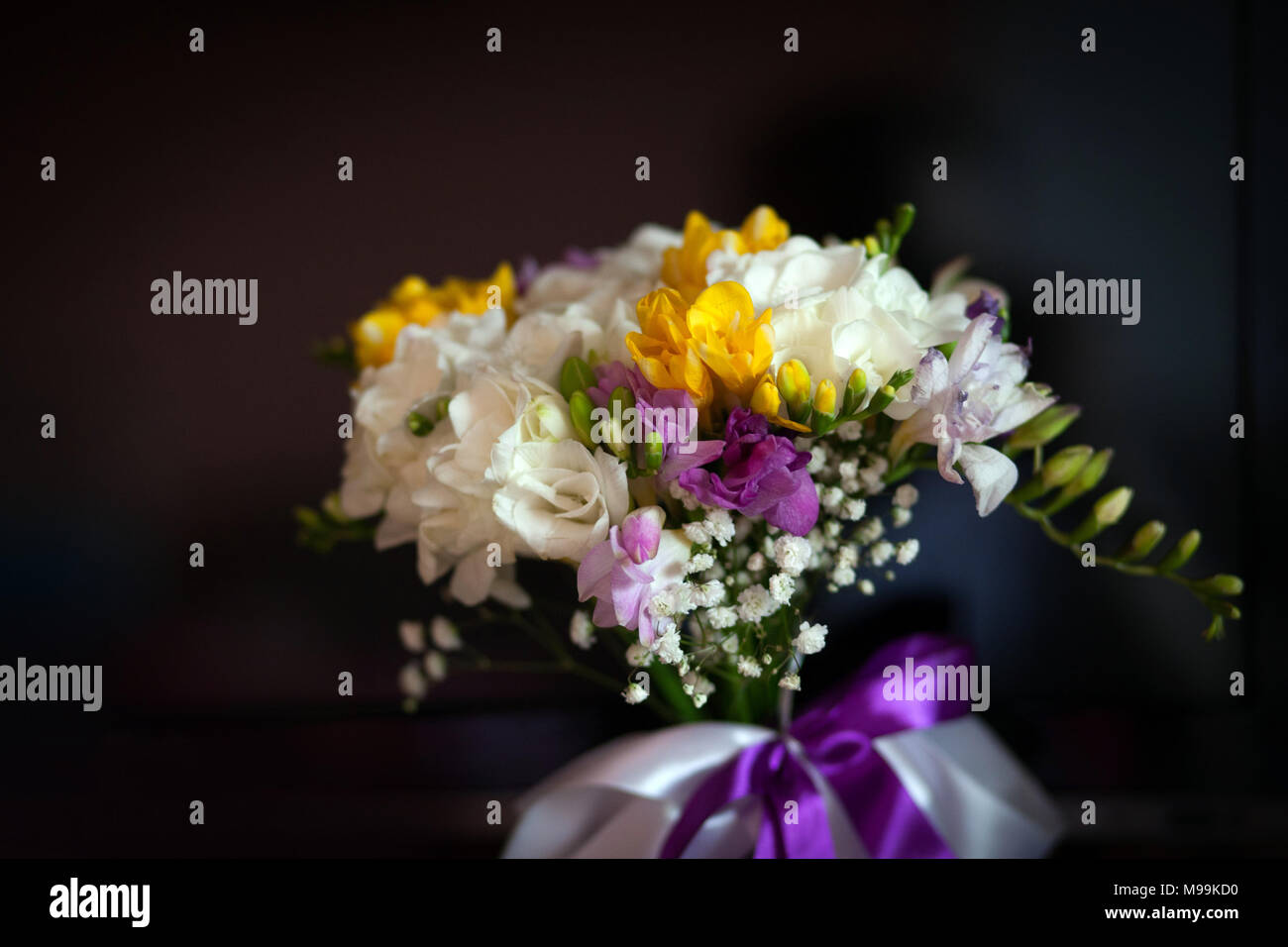 Bouquet of a beautiful colorful freesia flowers stock photo bouquet of a beautiful colorful freesia flowers izmirmasajfo
