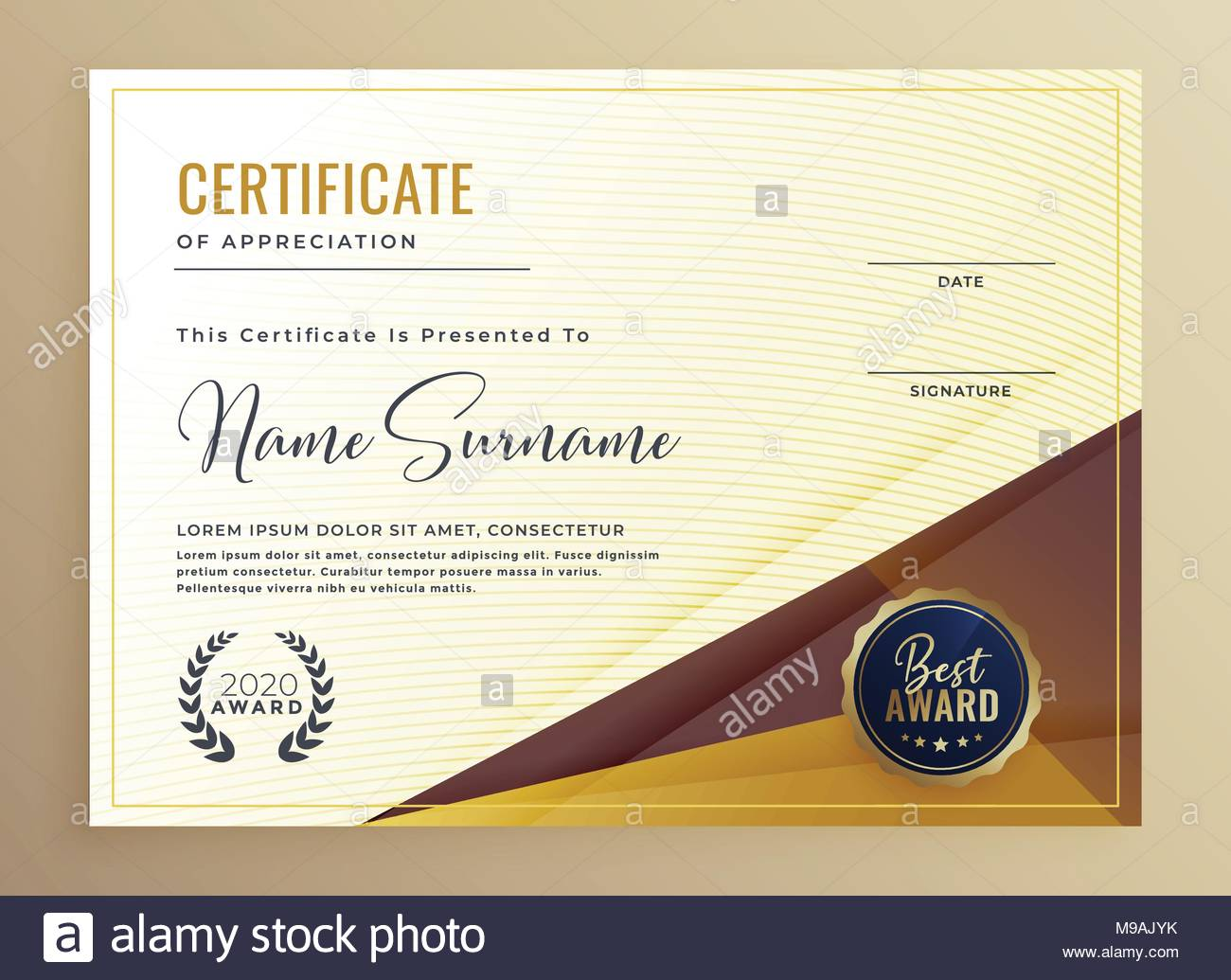 luxury premium certificate design template stock vector art