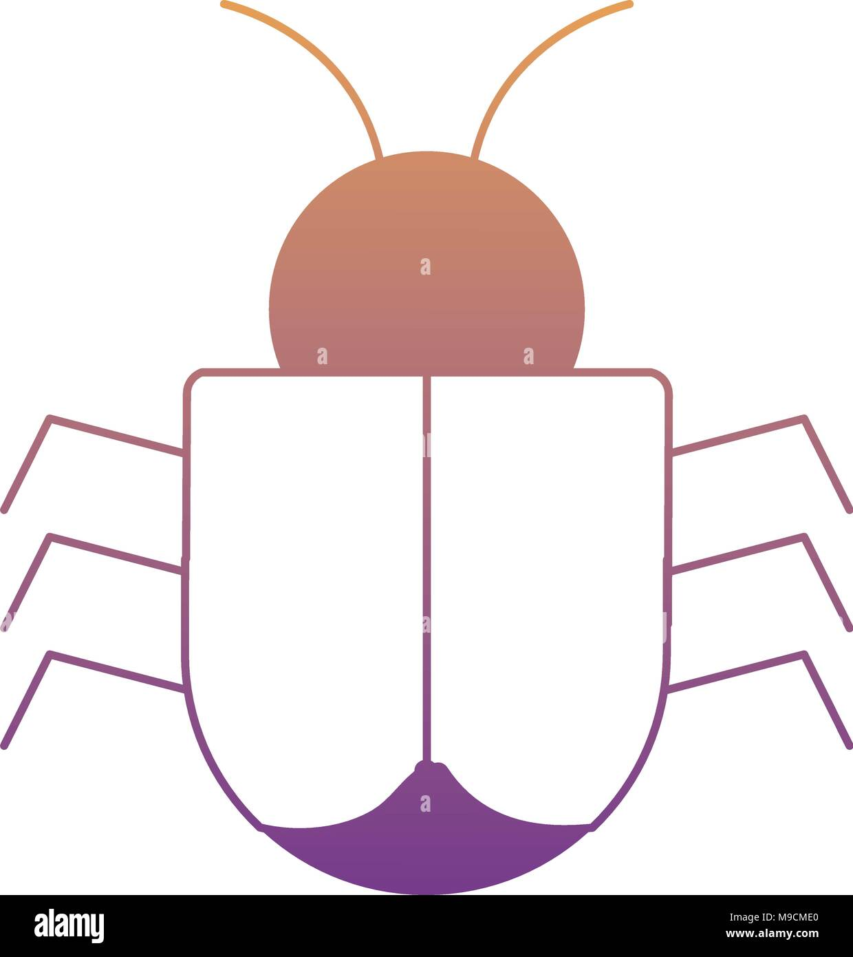 Bug icon over white background colorful design vector illustration bug icon over white background colorful design vector illustration ccuart Images