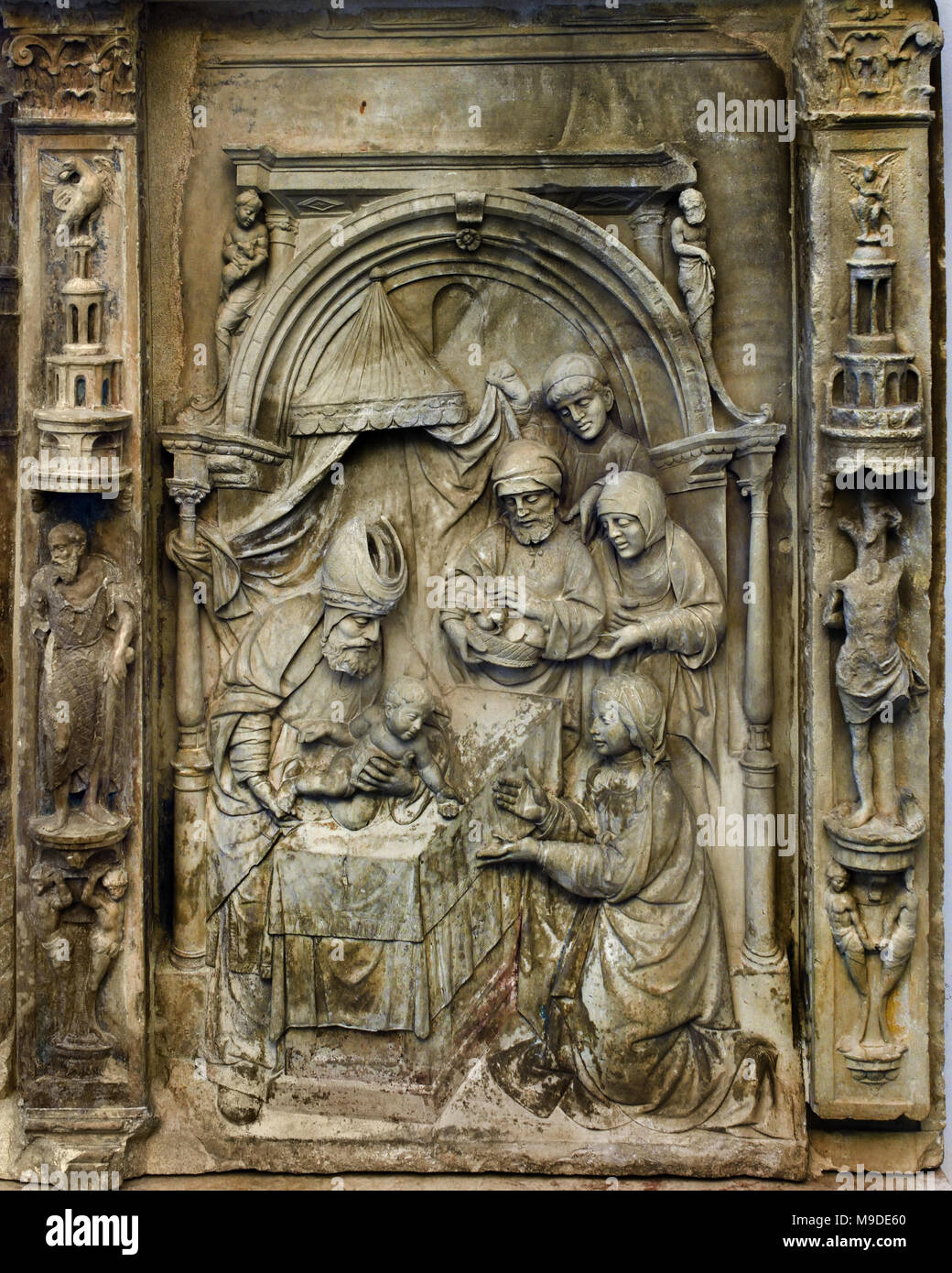 Retable \'Scenes from Life of the Virgin\', detail 1557 286 x 312 x 31 ...