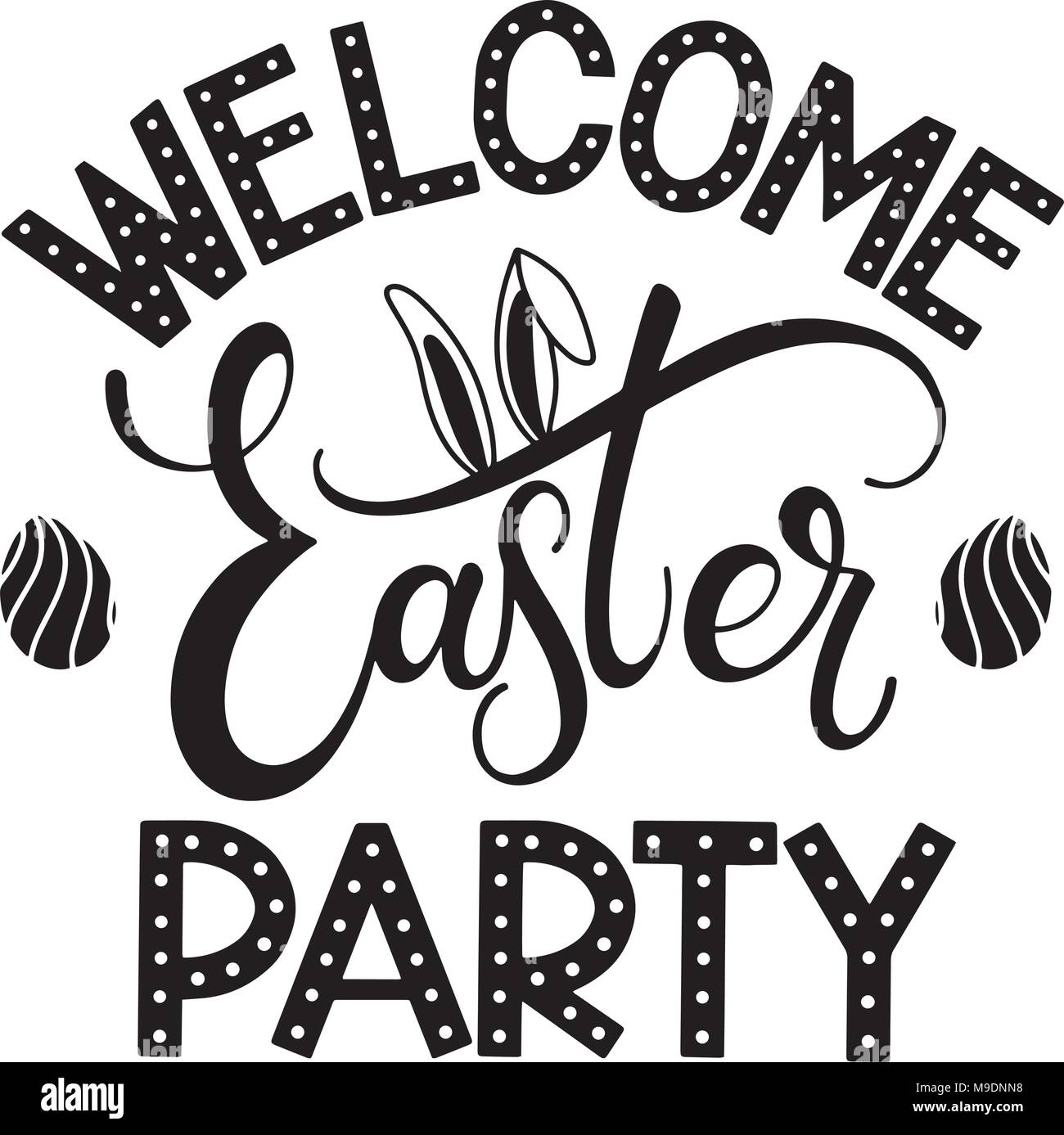 Easter party lettering hand written easter phrases seasons hand written easter phrases seasons greetings m4hsunfo