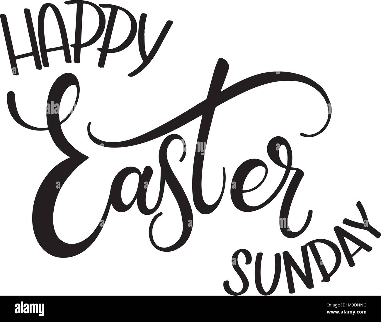 Happy Easter Sunday Lettering Hand Written Easter Phrases Seasons