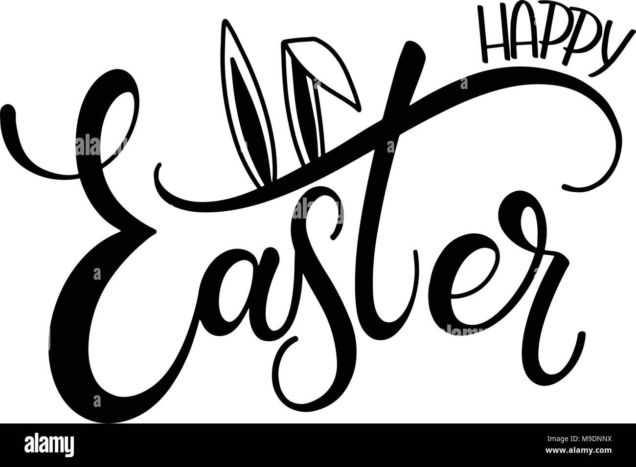 Happy easter lettering hand written easter phrases seasons happy easter lettering hand written easter phrases seasons greetings m4hsunfo