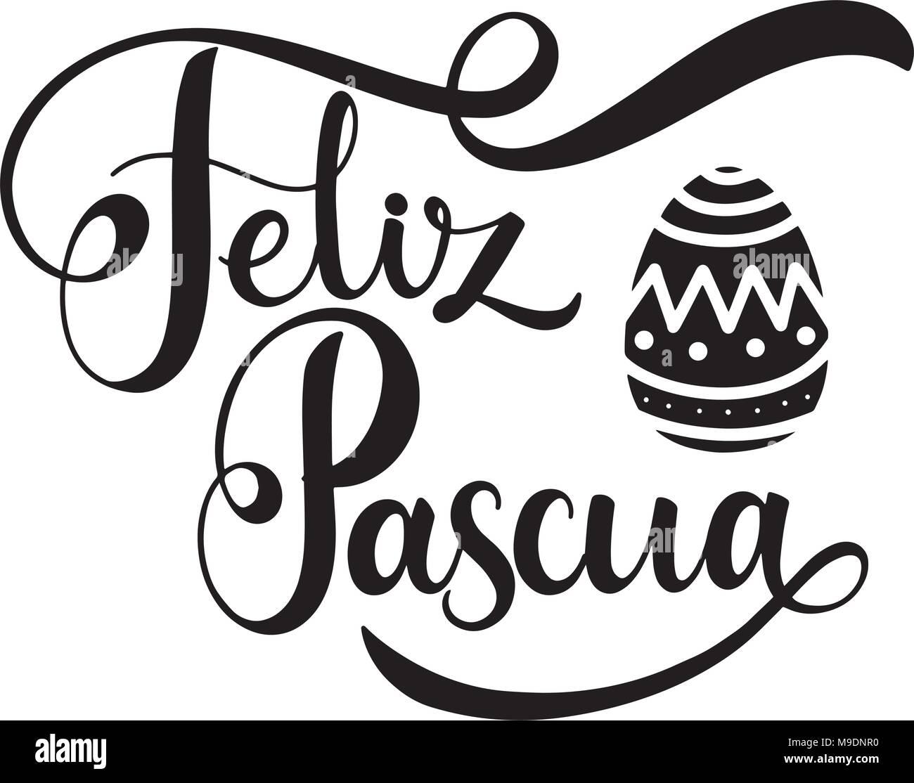 Feliz Pascua Lettering Happy Easter Lettering In Spanish Hand