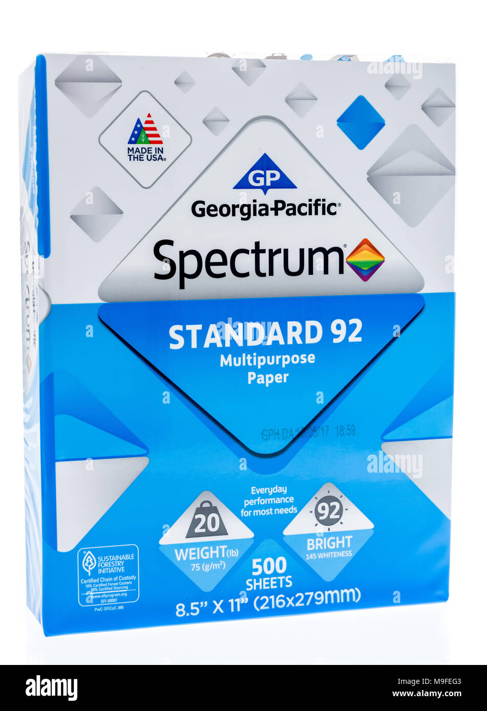 Printer paper stock photos printer paper stock images alamy winneconne wi 15 march 2018 a ream of georgia pacific spectrum printer paper biocorpaavc Images