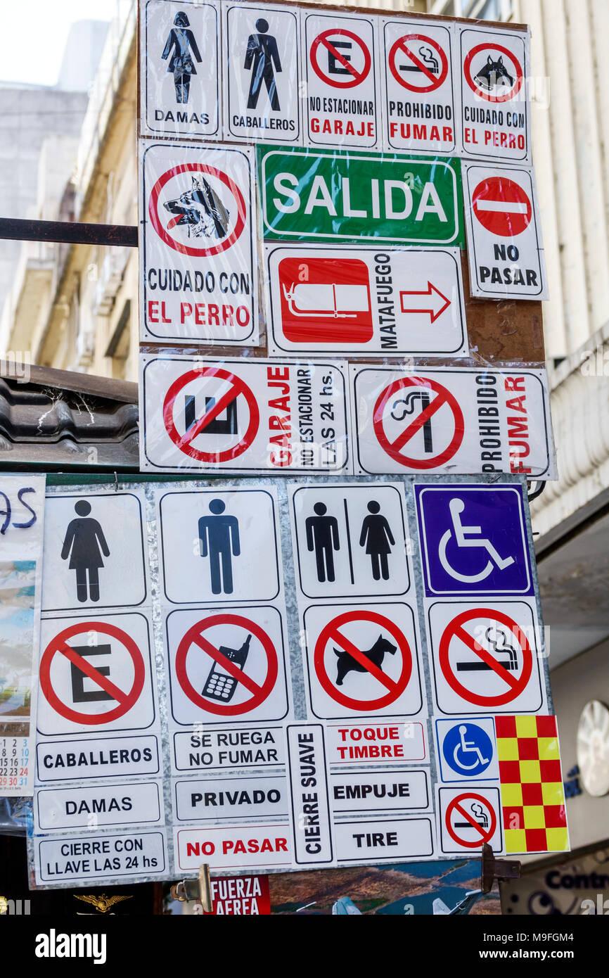 Buenos Aires Argentina Signs Display Sale Universal Symbols